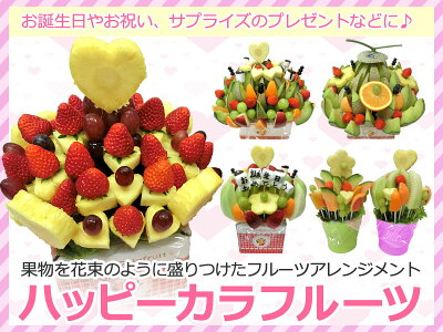 [誕生日ケーキ][バースデーケーキ][バースデー][バースデーギフト][誕生日][ギフト][プレゼント][ハッピーカラフルーツ][フルーツブーケ][カットフルーツ][フルーツギフト][果物][フルーツ][ギフト][贈り物][贈答品][お祝い][記念日][誕生日プレゼント]