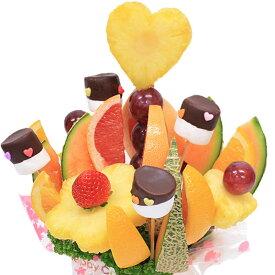 [ギフトパーク]果物 詰め合わせ【ノア】ハッピーカラフルーツフラワーギフト カットフルーツ盛合せ サプライズプレゼント 結婚記念日 結婚内祝い 誕生日 ケーキより面白い珍しい喜ばれる 贈り物 スイーツ インスタ映えフルーツケーキ フルーツブーケ 母の日