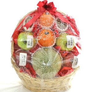 [ギフトパーク]果物 詰め合わせ【川】スタンド果物盛り籠 メロン入り フルーツセット くだもの 盛り合わせ 籠盛り 詰め合わせ フルーツ ギフト 贈答 フルーツギフト 開店祝い 新築祝い 引越
