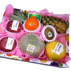 [ギフトパーク]果物 ギフト 誕生日プレゼントにフルーツギフト 旬の果物詰め合わせ【水】メロン入り お誕生日や記念日のお祝いの贈り物に男性女性問わず喜ばれるフルーツセット季節の果