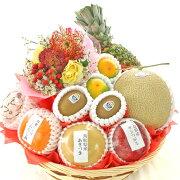 [バースデーギフト][果物詰め合わせ][フルーツセット][バースデー][果物詰め合わせ][誕生日][ギフト][プレゼント]ミニバルーン付きフルーツバスケット[果物][フルーツ][ギフト][贈り物][贈答品][お祝い][記念日]