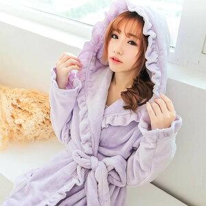 もこもこ ナイトガウン あったか くつろぎルームウェア 着る毛布 レディースガウン フード付き かわいい ネグリジェ 部屋着 秋 冬 ふわもこ ゆるふわプードル りえPのおすすめ pjm187