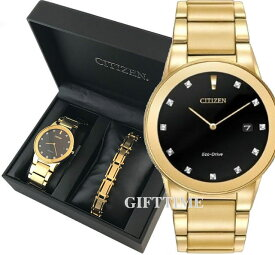 ☆AU1062-64GCITIZEN MEN'S ECO-DRIVE AXIOM Gold Tone Stainless Set シチズン エコドライブ ゴールド ステンレス ギフトセット 海外モデル 時計 au1062-64g