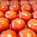 西海トマト Mサイズ22-23玉(約3kg) 長崎県西海市産 高糖度 桃太郎トマト 冷蔵便【送料無料】【代引き不可】