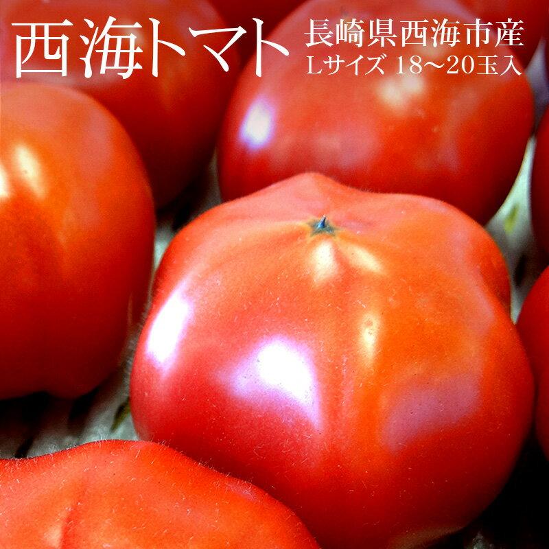 長崎県西海市産 西海トマト Lサイズ18-20玉(約3kg)[期間限定 濃縮・高糖度トマト 冷蔵便 送料無料]