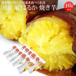 [冷蔵便] 国産紅はるか使用 焼き芋 10本セット (夏季は冷蔵便※価格が変わります)【焼いてある焼芋 ねっとり 冷やしても 甘い 送料無料 無添加 父の日 母の日】