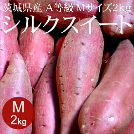 [9/3頃まで]茨城県産シルクスイート(生) A等級 Mサイズ 2kg[使いやすい量]【焼き芋に】【野菜便】【常温便】【送料無料】【代引き不可】