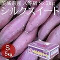 茨城県産シルクスイートS×5kgA等級[小さめさつまいも高糖度野菜便常温便送料無料]
