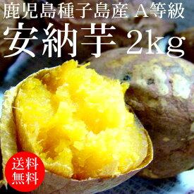 鹿児島種子島産 安納芋S〜M×2kg A等級 [使いやすい量 野菜便 常温便 送料無料]