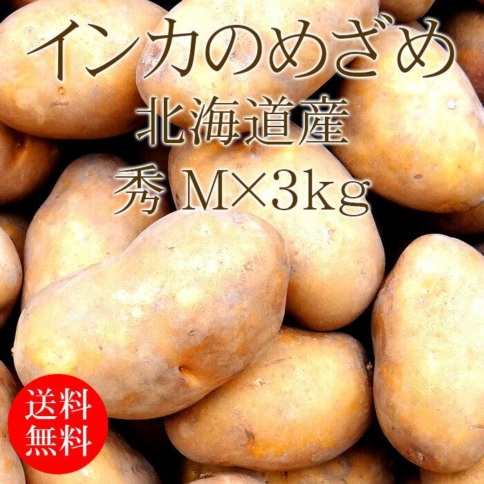 北海道産 インカのめざめ 秀 Mx3kg [じゃがいも 使いやすい量 野菜便 常温便 送料無料]