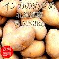 北海道産じゃがいもインカのめざめMx3kg[使いやすい量]【野菜便】【常温便】【送料無料】【代引き不可】