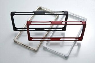 iPhone6用RECTAiPhone6用アルミバンパーケースピュアホワイトシルキーブラックバンパーアルミケースカバースマホケーススマホカバースマホiPhoneアイフォンスマートフォンiPhone6