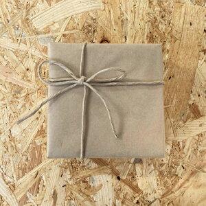 《ギフトラッピング》クラフト紙+茶色リボン