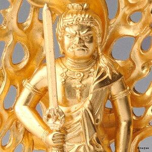 【金箔仕様】不動明王15cm高岡銅器の本格金属仏像とり年生まれのお守り本尊fs3gm