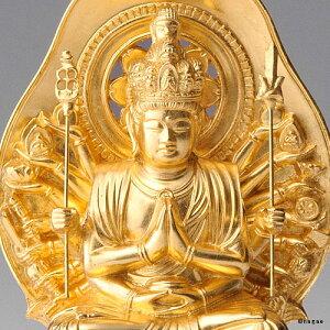 【金箔仕様】千手観音菩薩15cm高岡銅器の本格金属仏像ねずみ年生まれのお守り本尊fs3gm
