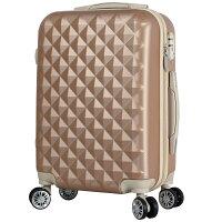 スーツケースキャリーバックキャリーケースかわいいSサイズ軽量TSAロック丈夫キルト風ボディダブルキャスターエンボス加工1日2日3日小型ハードケース送料無料Basilo-012