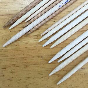 日本製の竹製棒針/5本針(短)・15cm靴下や小物に便利なサイズです。珍しいサイズですが、ご要望の多いサイズですので作りました♪