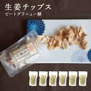 生姜チップス(ビートグラニュー糖)6袋|国産100%/熊本、高知、長崎 無添加 無着色|温活 冷え対策|生姜紅茶 しょうが紅茶|生姜 ギフト 贈答 母の日 敬老の日 お中元 お歳暮 結婚祝い|