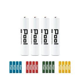 単4電池 950mAh ニッケル水素電池 Ni-MH 充電池 Pool プール 単4形電池 4本セット