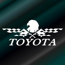 かっこいいフラッグ エンブレム ステッカー トヨタ TOYOTA枠サイズ:10cm×23cmレーシング ステッカー 車用 ステッカー バイク カー用品 バイク用品 デカール カーステッカー かっこいい ドレスアップ