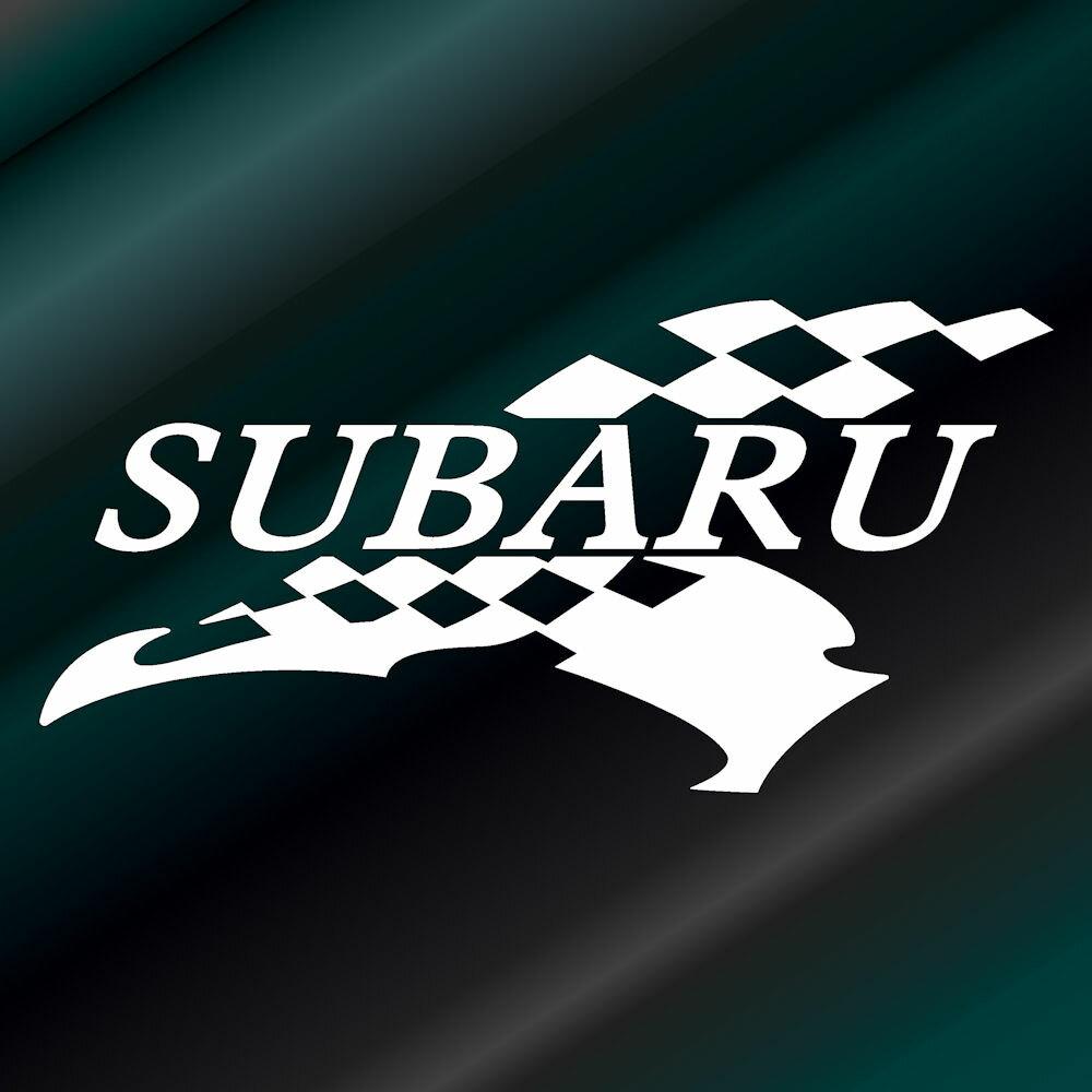 かっこいいフラッグ エンブレム ステッカー スバル SUBARU枠サイズ:5cm×10cm(左向き)レーシング ステッカー 車用 ステッカー カー用品 バイク用品 デカール カーステッカー かっこいい ドレスアップ