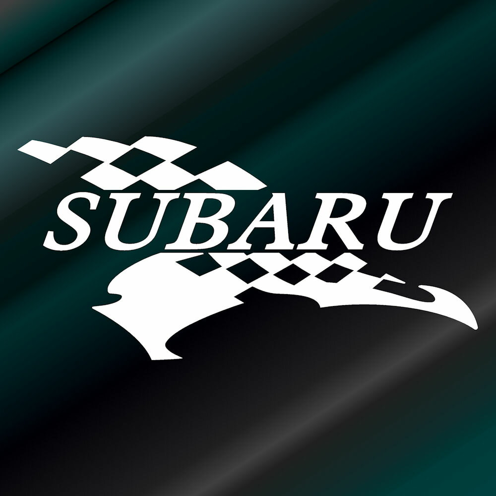 かっこいいフラッグ エンブレム ステッカー スバル SUBARU枠サイズ:5cm×10cm(右向き)レーシング ステッカー 車用 ステッカー カー用品 バイク用品 デカール カーステッカー かっこいい ドレスアップ