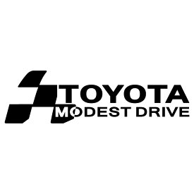 TOYOTA トヨタ 車ステッカー チェッカー エンブレム 枠サイズ:7cm×23cm カッティングクールで大人の走りをする 安全運転 ステッカー メーカー 車種別 かっこいい ドレスアップ デカール