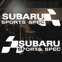 スバル SUBARU 車 ステッカー スポーツスペック 枠サイズ:8cm×26cm 左右反転セット スポーツ ドライブ 車用 ドレスアップ 外装 パー…