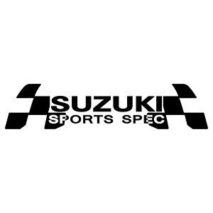 ステッカー 車 スズキ SUZUKI メーカー ロゴ エンブレム 枠サイズ:8cm×32cm レーシング ドライブ 車用 ドレスアップ 外装 パーツ カー用品 かっこいい デカール ステッカー