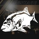 釣り師 石鯛 口白 釣り ステッカー プロ クラブ サイズ:16cm×23cm プロも魅了する釣り師のための 石鯛ステッカー インパクト抜群! …
