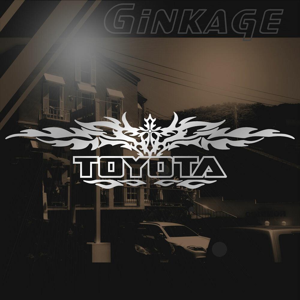 TOYOTA トヨタ ステッカー 十字架 車 ステッカー DIY ドレスアップ カー用品 外装 ロゴ エンブレム 枠サイズ:8cm×29cm かっこいい カー ステッカー リアガラス