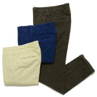 INCOTEX SLACKS 1ST603 Garment dye stretch waffle corduroy tapered pants 1ST603-40458 13052004091
