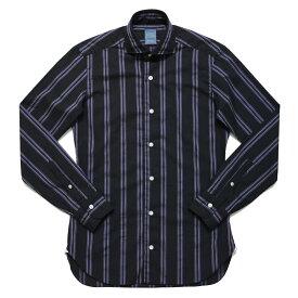 BARBA(バルバ)DANDY LIFE NEW BRUNO コットンストライプカッタウェイワイドカラーシャツ 291505 11062005022