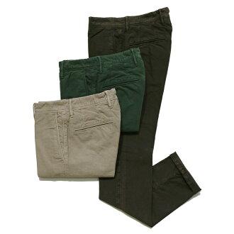 INCOTEX SLACKS SKIN FIT Garment dye Cotton Stretch Twllt Tapered Chino 1ST619-40478