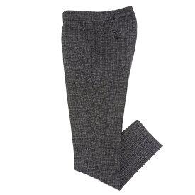 COMMUNE DE PARIS(コミューンドゥパリ)ウールナイロンマイクロチェック1プリーツテーパードパンツ Pants GN9 13062001112