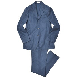 【SALE40】BOGLIOLI(ボリオリ)ウールフランネルソリッド3B2プリーツスーツ L3441E/BBP153 17172000052