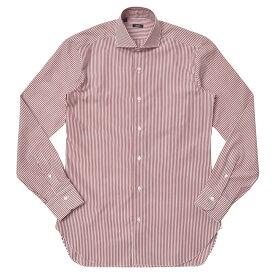 【SALE40】BARBA(バルバ)406 コットンブロードロンドンストライプワイドカラーシャツ I1U662PZ0149U 11172222022