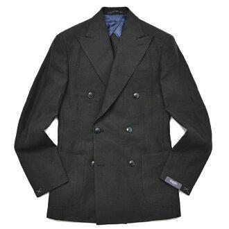 BARBA(바르바) 린넨 솔리드 6 B더블 재킷 GDP_0109 17081003022