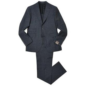 TAGLIATORE VESVIO SUPER100's Wool Silk Nylon Merrange Pin Stripe 2B Suit 2SVJ22D11/19UEA036