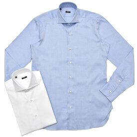 BARBA(バルバ)406 コットンロイヤルオックスソリッドワイドカラーシャツ I1U662PZ5009U 11182209022