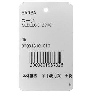 BARBA(バルバ)ウールサージチョークストライプ3B1プリーツスーツSLELL0/912000117182005022