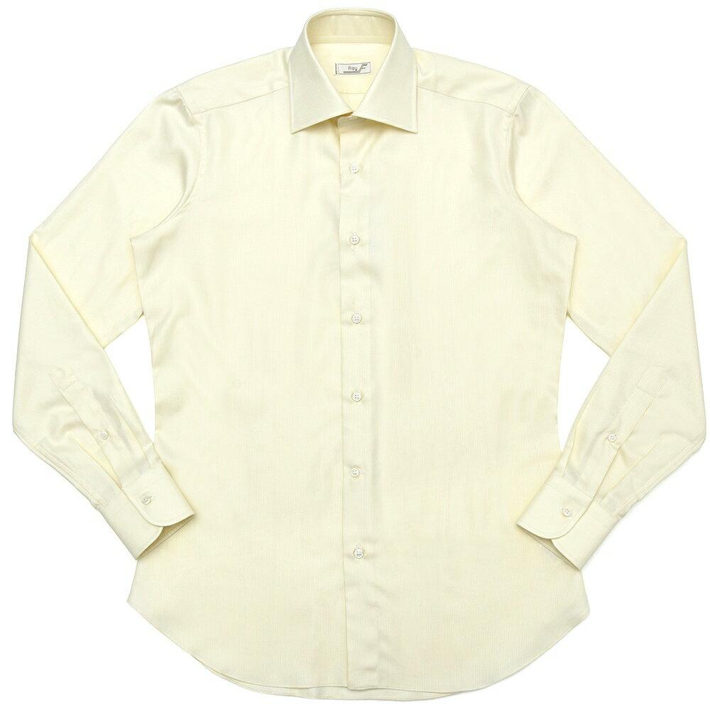 FRAY(フライ)コットンジャガードソリッドセミワイドカラーシャツ Byron/Riva vintage/CL73 11082007022