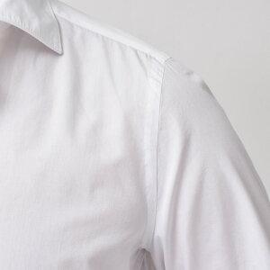 Finamore(フィナモレ)LUIGIルイジ/GENOVAジェノバウォッシュドコットンブロードソリッドワイドカラーシャツC014711091000039