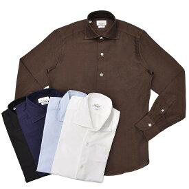 【SALE30】Giannetto(ジャンネット)ウォッシュドコットンオックスセミワイドカラーシャツ VINCH FIT/AG14430V81 11091001109