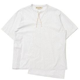 MARNI(マルニ)コットンストライプアシンメトリースキッパーS/Sシャツ CUMU0040A0 11091400138