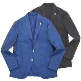 【MORE SALE40】Giannetto(ジャンネット)コットンリネンソリッド2Bシャツジャケット AG835JK 17091001109