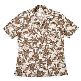 Finamore(フィナモレ)BARTバルト ウォッシュドコットンボタニカルプリントS/Sオープンカラーシャツ P9116 11091006039