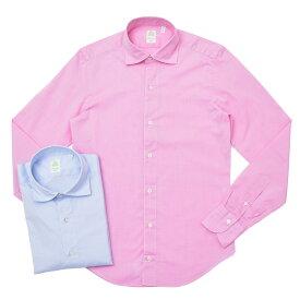 Finamore(フィナモレ)LUIGIルイジ/GENOVAジェノバ ウォッシュドコットンエンドオンエンドワイドカラーシャツ P9222 11091007039