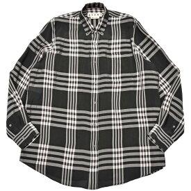 【SALE30】MARNI(マルニ)レーヨンチェックオーバーサイズドボタンダウンシャツ CUMU0051 11091401138