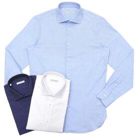 GUY ROVER(ギ ローバー)コットンピンオックスソリッドワイドカラーシャツ W2530/591103 11191206027◇◇